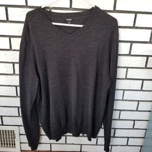 Dark Grey V-neck Sweater